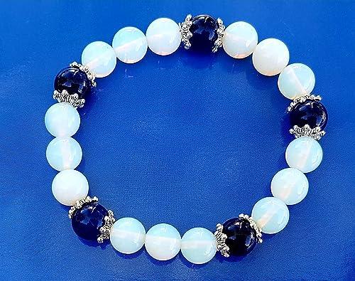 site réputé 8ed84 e4a27 Bracelet Opale et Lapis Lazuli: Amazon.fr: Handmade