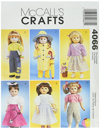Amazon McCall's Patterns M40 40Inch Doll Clothes One Size Beauteous Mcall Patterns