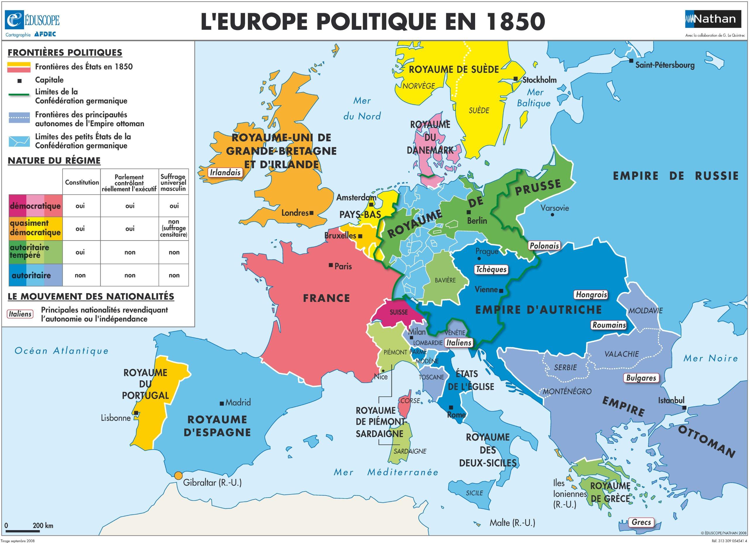 Carte Europe Km.Carte Europe Au Milieu Du Xixeme Siecle Industrialisation De