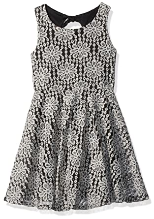 8bdd3ff96b Amazon.com  Speechless Girls  Big Sequin Lace Skater Dress  Clothing