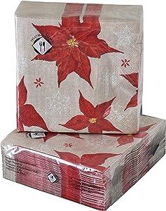 40-ct 5x5 Red Burlap Napkins | Valentine Napkins | Red Cocktail Napkins | Red Beverage Napkins | Red Paper Napkins | Red Napkins for Dessert Wedding Birthday Valentine Christmas New Year