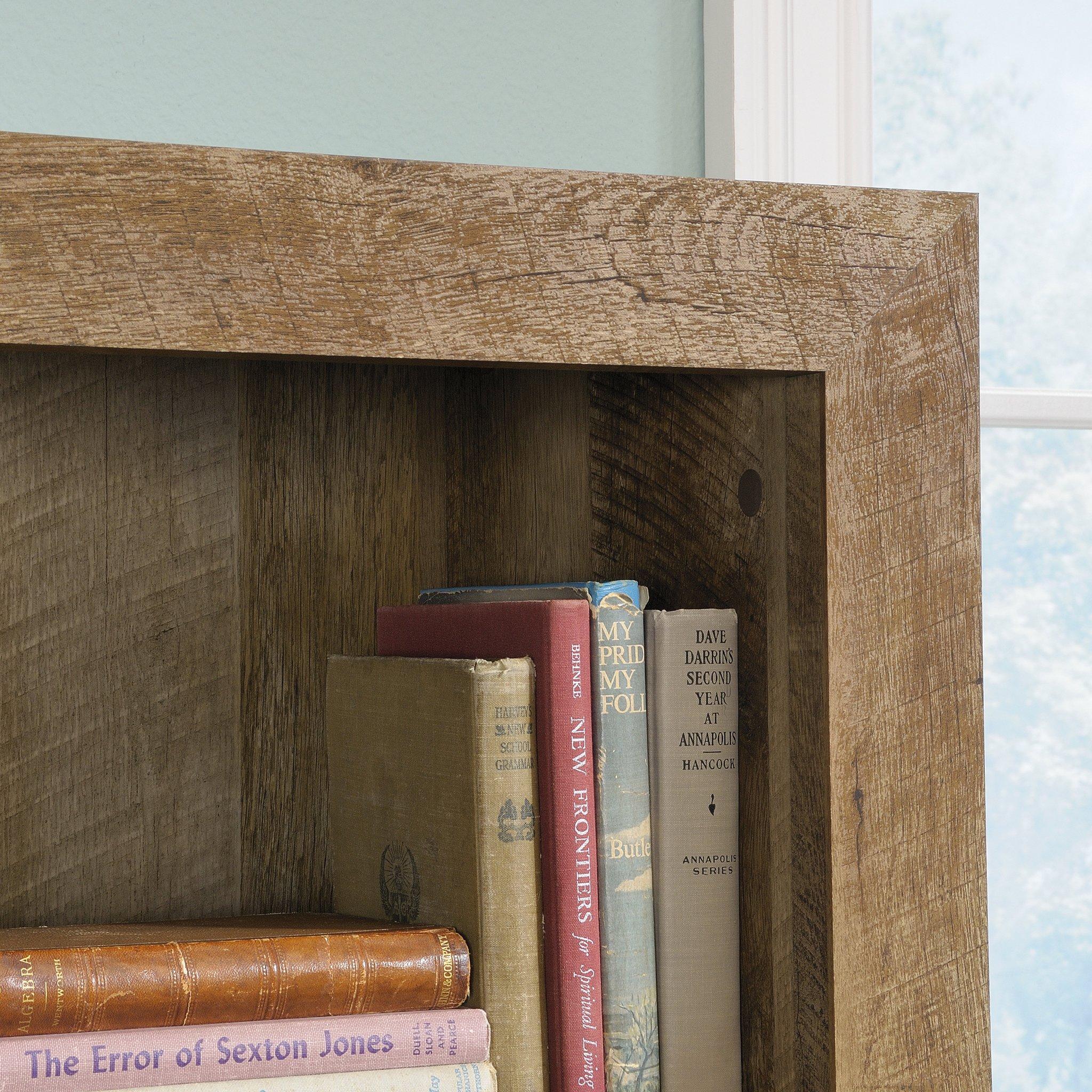 Sauder 418546 Dakota Pass 5-Shelf Bookcase, L: 33.78'' x W: 12.52'' x H: 71.1, Craftsman Oak finish by Sauder (Image #8)