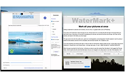 WaterMark+ : Protect all your pictures with a logo, a text, and embedded copyright information [Download]
