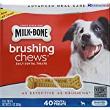 Milk-Bone Brushing Chews (Small/Medium) 40 Dental Treats 31.4oz by