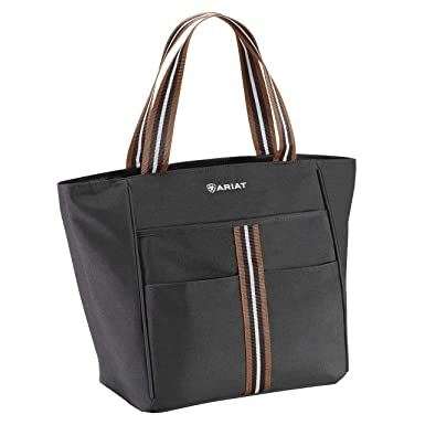 5b83e9a5b Amazon.com: ARIAT Carry All Tote Tote Black/Tan: Shoes
