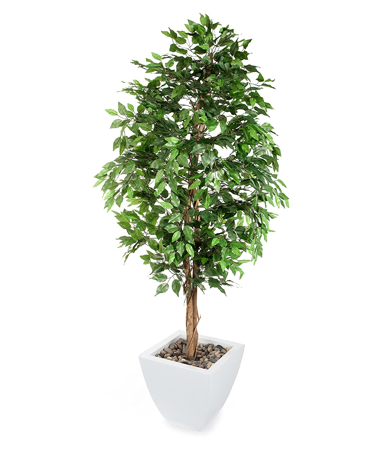 Closer2Nature Artificial 6ft Danielle Weeping Fig Tree - Portofino Planter Not Included T004B