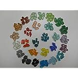 Glas-Mosaik Bunte Mischung verschiedener Lila-T/öne. Kleine Mosaik-Kachelsteine in 8 mm