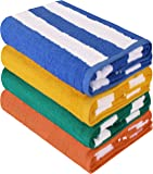 Utopia Towels Cabana Stripe Beach Towel (30 x 60 Inches) - 100% Ring Spun Cotton Large Pool Towels, Soft and Quick Dry…