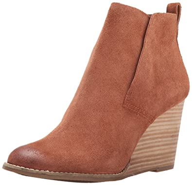Womens Boots Lovely 6393615 Lucky Brand Yoniana Wedge 9 Brown