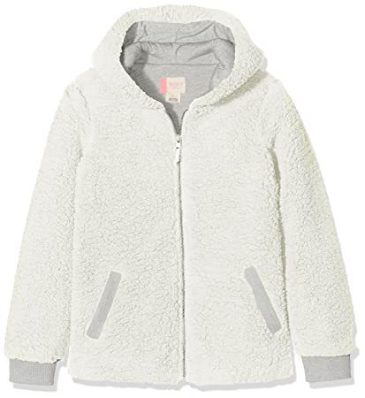 Roxy Share New Words Sudadera con Capucha y Cremallera, Niñas, Blanco (Marshmallow Solid
