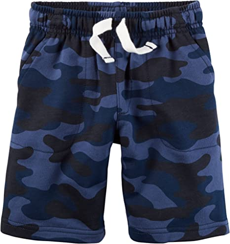 Blue Camo 3-Toddler Carters Little Boys Easy Pull-On Knit Shorts