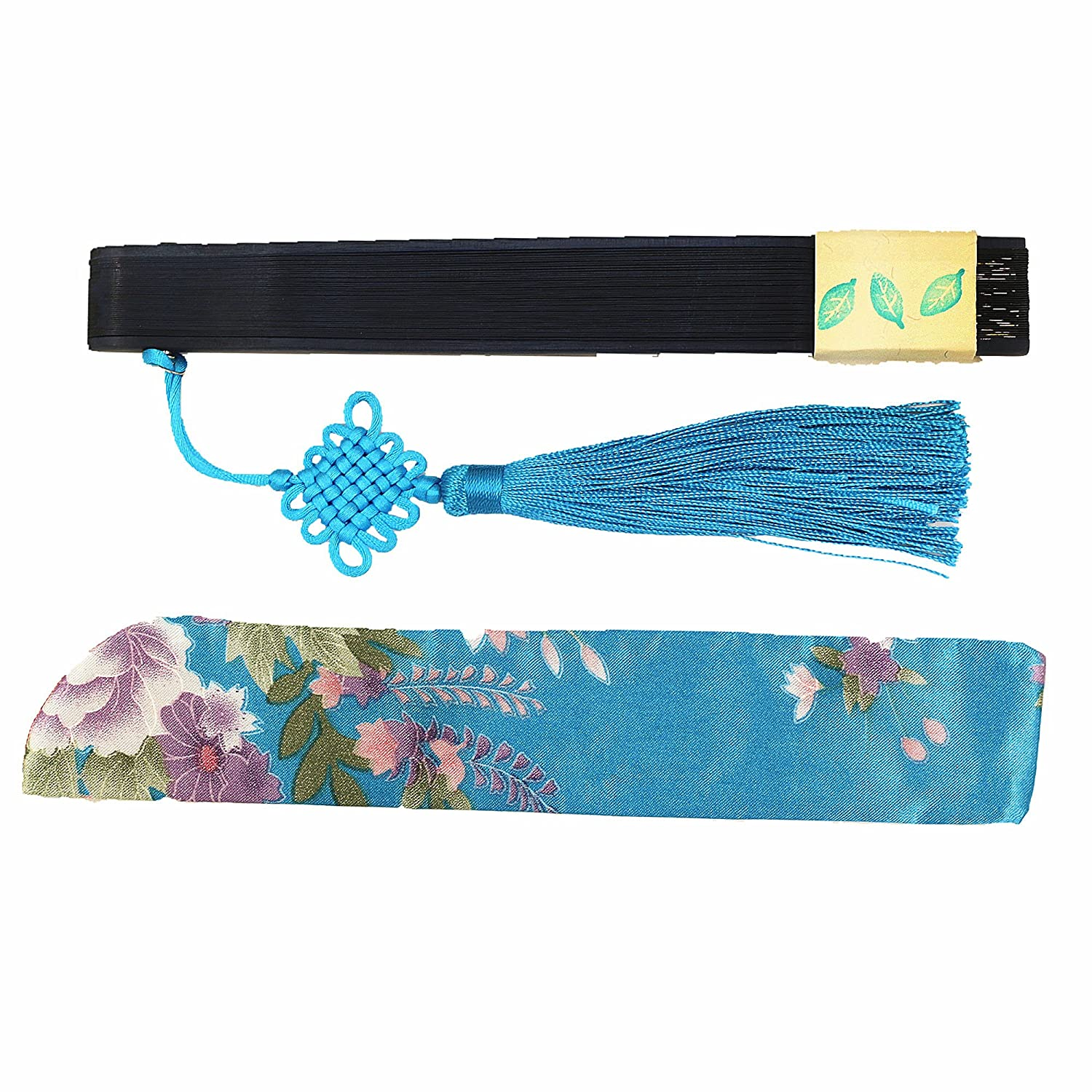 Summer Cooling Accessories Vintage Retro Style 8 Bamboo Wood Silk Pocket Purse Fan for Wedding Dancing Home Wall Decor with Pouches//tassel-f078 Wise Bird Chinese Japanese Folding Hand Fan for women