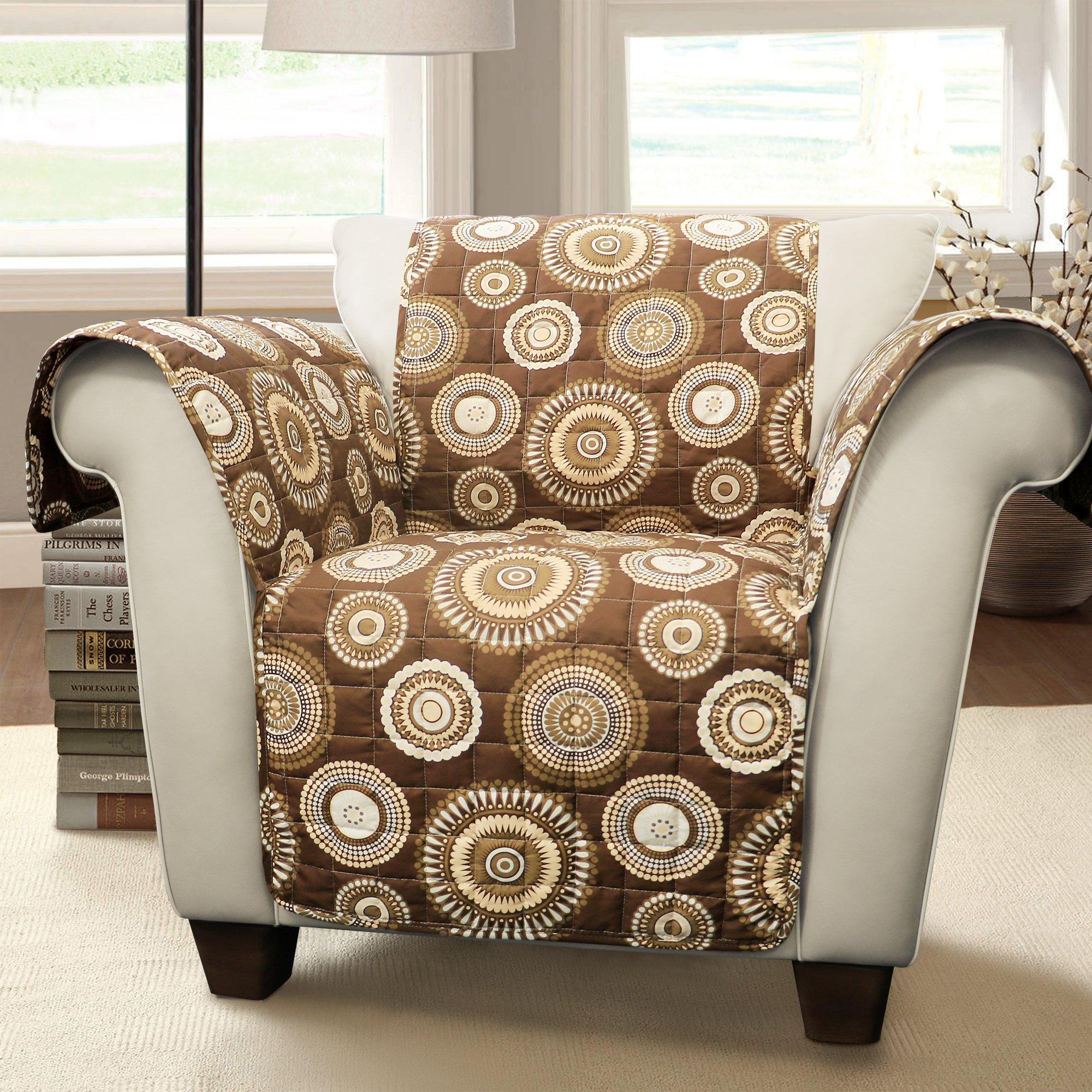 Lush Decor Cleo Arm Chair Furniture Protector, Armchair, Brown