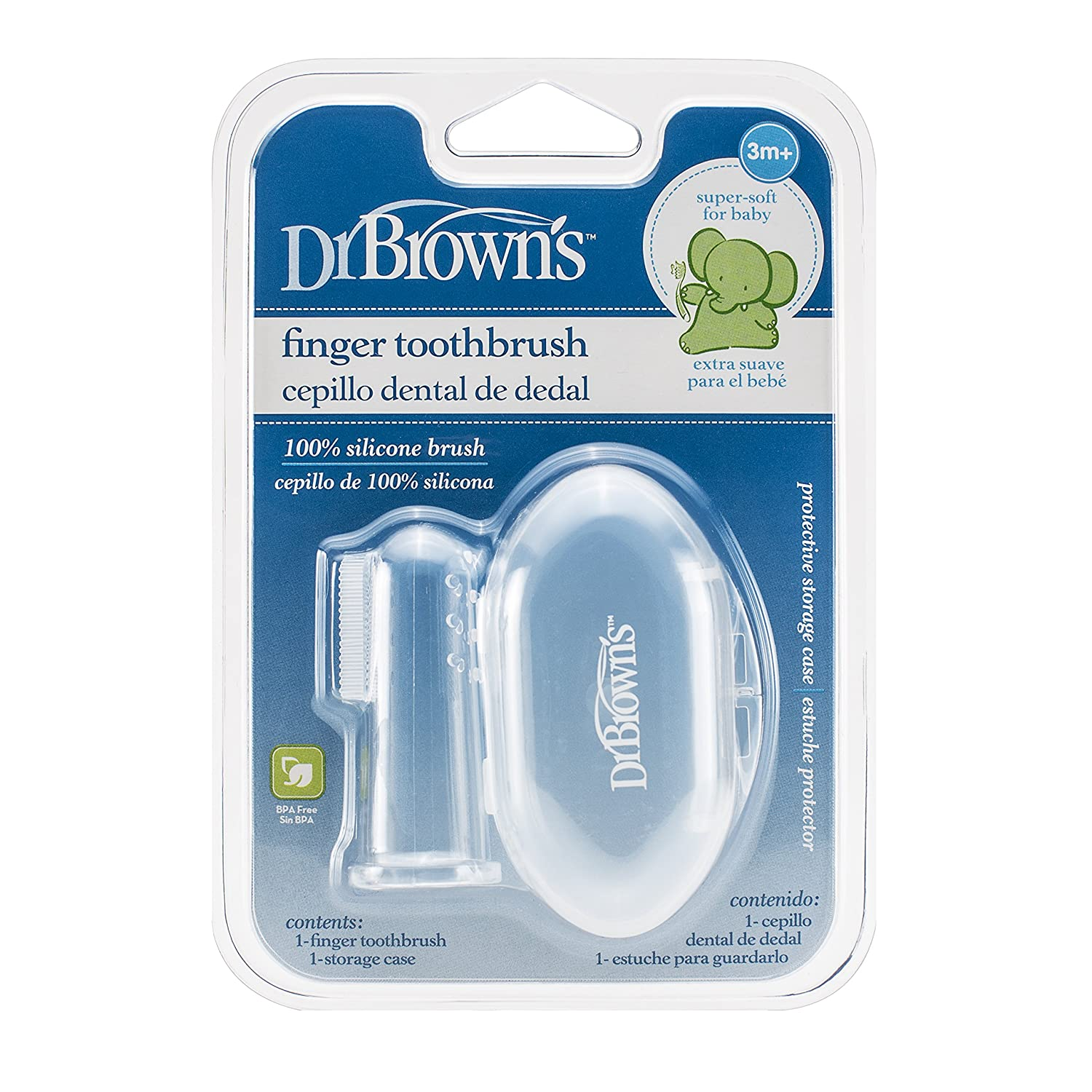 Dr Brown Cepillo Dental de Dedo Silicona, 1ud: Amazon.es: Bebé