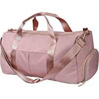 Sports Gym Bag with Wet Pocket and Shoes Compartment 30L Weekender Duffel Bag for Women Travel, Yoga Training Handbag,Waterproof Shoulder Tote for Swim, Pink
