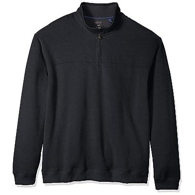 Arrow 1851 Men's Big and Tall Saranac Long Sleeve 1/4 Zip Sueded Fleece Pullover: Clothing