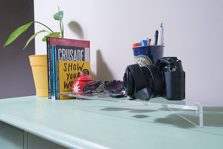 Amazon.com: Source One Corner Shelf Clear Heavy Duty Acrylic ...