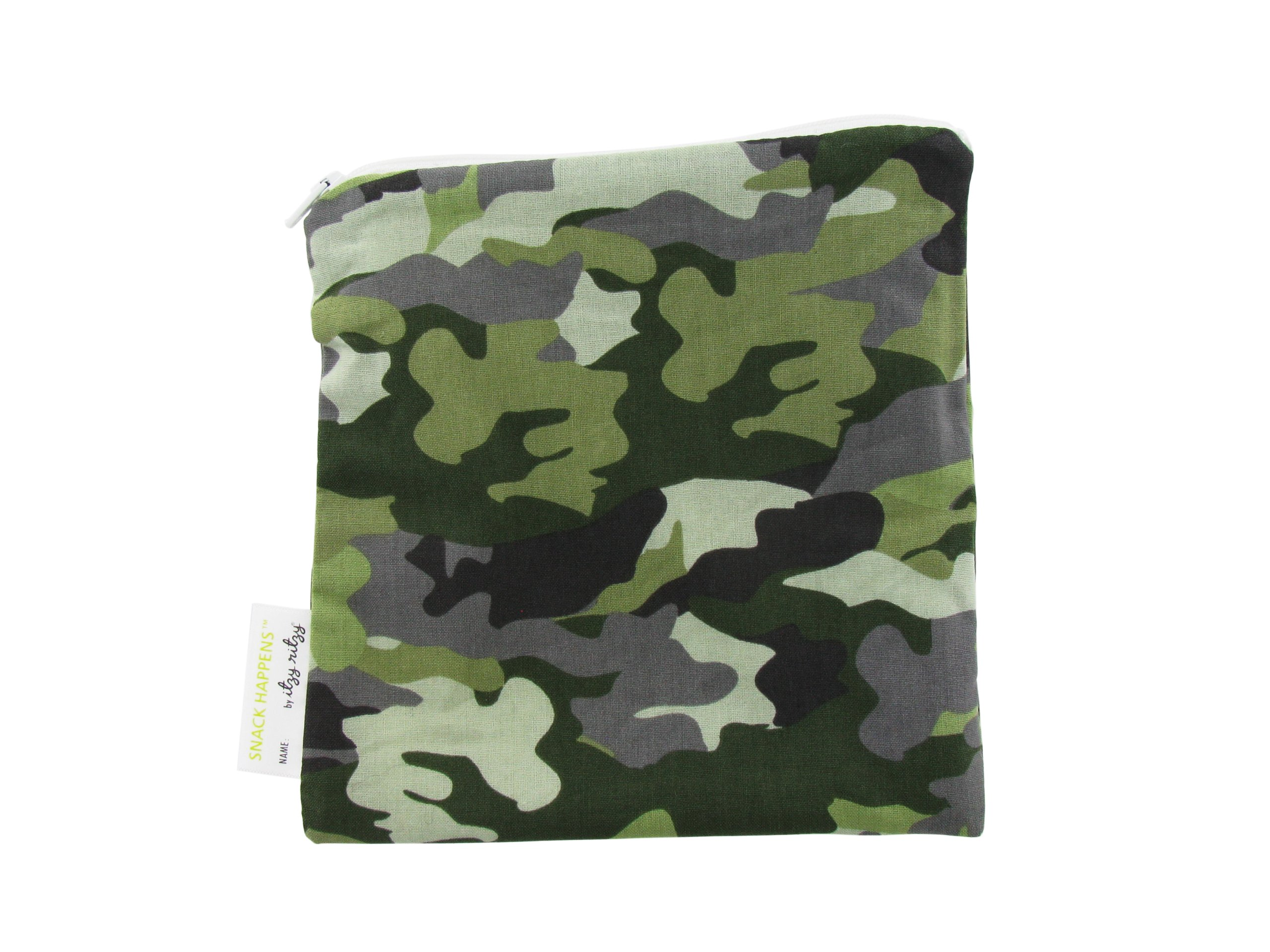 Itzy Ritzy Snack Happens Reusable Snack and Everything Bag, Camo, Regular
