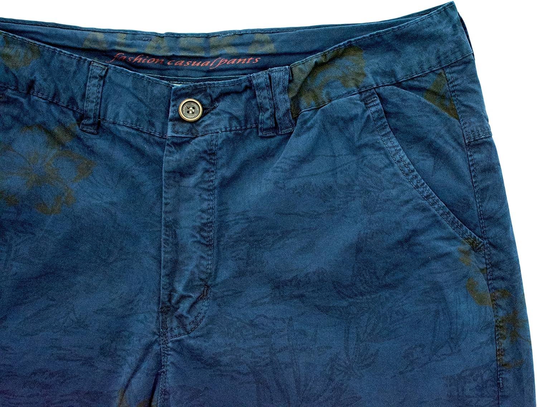 Alaska Mens Hawaiian print walking shorts with stretch cotton