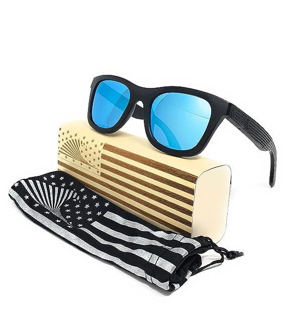 Loudmouth Patriot Hombres Patriota Sombras gafas de sol Wayfarer Por, polarizado y flotante de la
