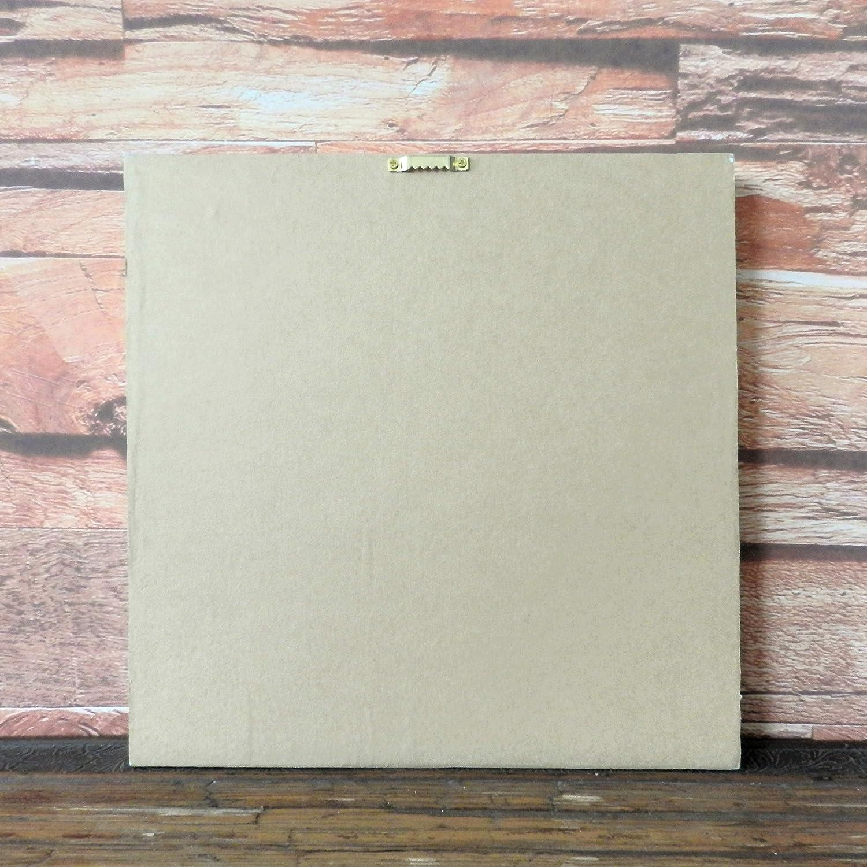 peinture /à lhuile pour une d/écoration murale CVHOMEDECO Peinture relief Still Life de salle de bain peint /à la main photos sur cadre en bois 38,1/x 38,1/cm