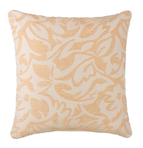 Brandsseller Cojín de sofá jacquard – Cojín con relleno 40 x 40 y 50 x 50 cm – 7 colores diferentes, poliéster, crema/beige, 50 x 50 cm