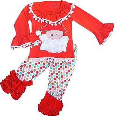 girls boutique clothing holiday christmas santa clothing set 2t