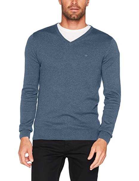 Tom Tailor Basic Sweater with High Collar, Sudadera para Hombre