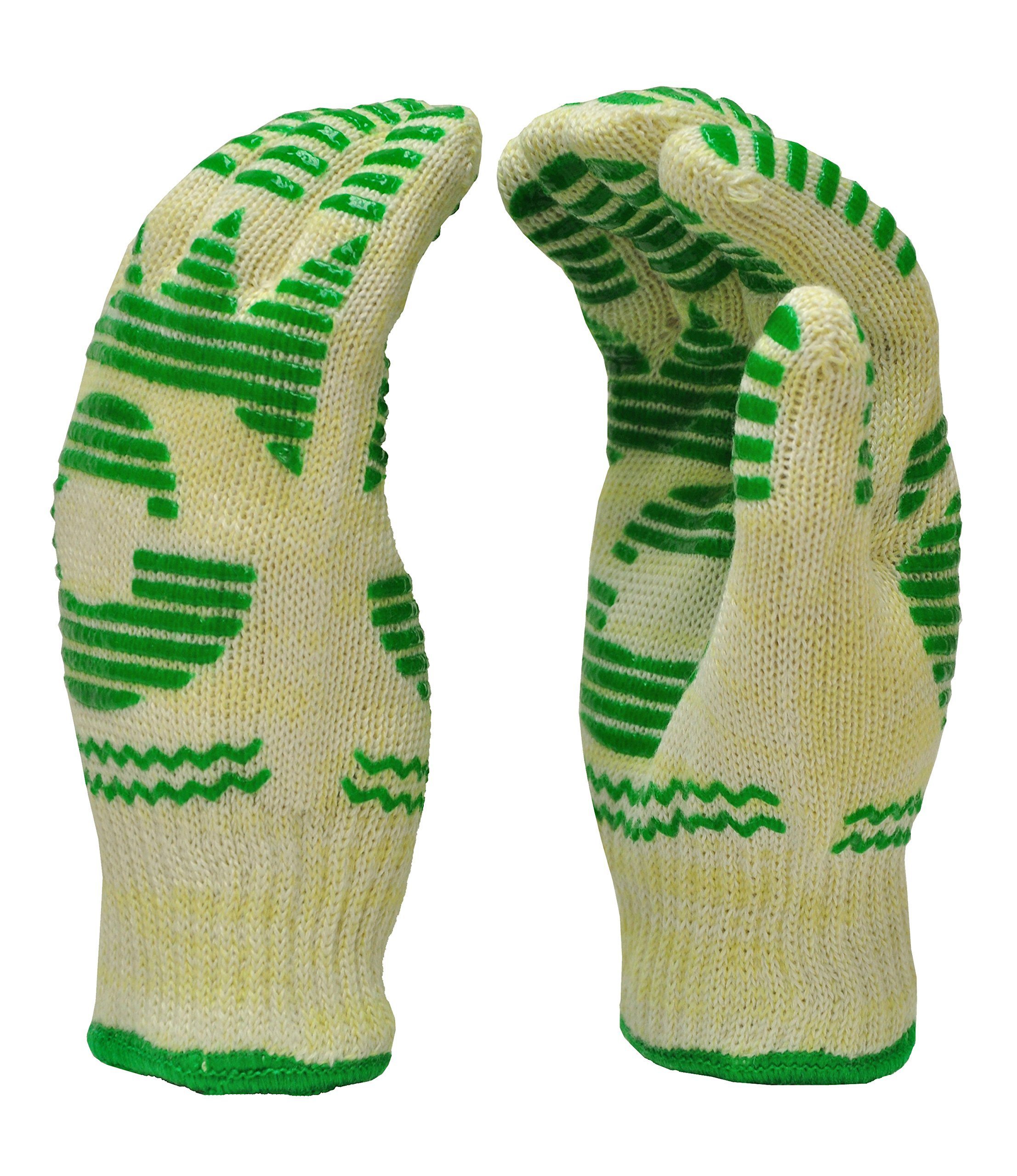 GF Gloves 1684M-12 Heat Resistant Oven Gloves, Withstands Extreme Heat, Flexible 5 Finger Oven Mitt, Medium (Pack of 12)