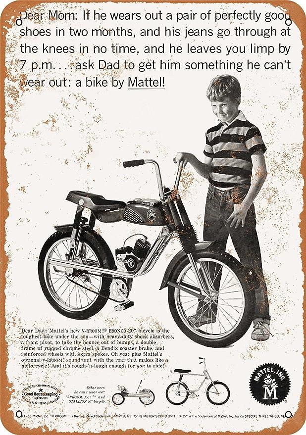 Motor Bicicleta Racer Retro Vintage signo de Aluminio de Metal//cueva de hombre