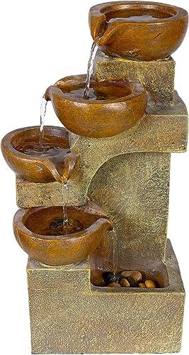 Alpine Corporation WCT726 Tiering Pots Fountain