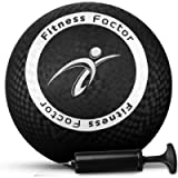 Fitness Factor Playground Kickball with Air Pump for Inflatable, Perfect Rubber Bouncy Dodgeball for Indoor, Outdoor…