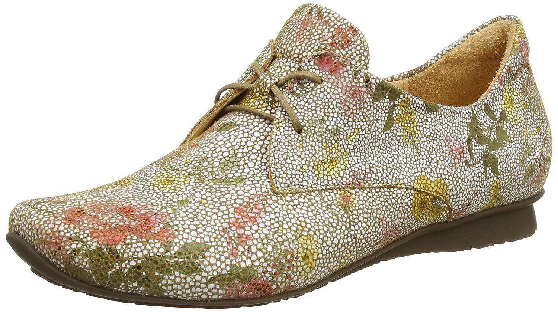 Think Chilli_282100, Zapatos de Cordones Brogue para Mujer 38.5 EU|Blanco (Rum/Kombi 54)