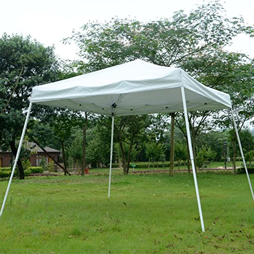 Pergolas Toldo plegable de color blanco de 25, 4 x 25, 4 cm, para boda, fiesta, al aire libre, patio, toldo de refugio: Amazon.es: Jardín