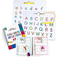 Motlan Magnetic Letter Board (2 in 1)— Alphabet Magnet Tracing Board for Toddlers— Uppercase and Lowercase ABC Letters…