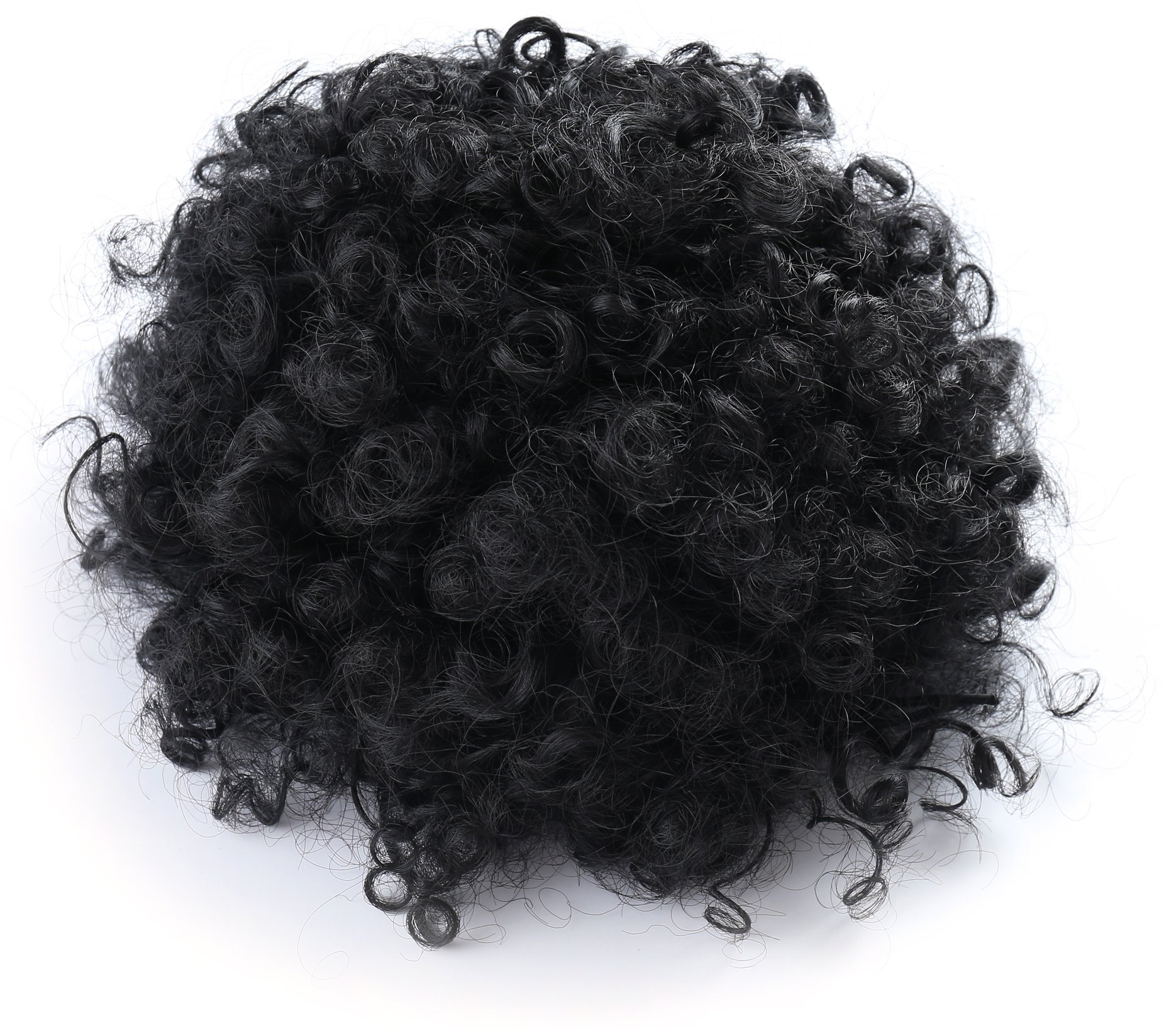 Amazon Afro Kinky Curly Human Hair Ponytail Extensions Kinky