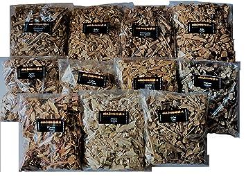 Madera para barbacoa, smoker o ahumar, 2,2 kg de astillas, colección