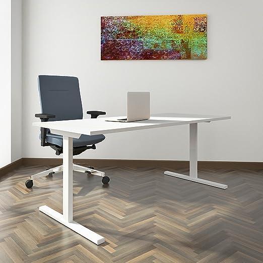 PROFI Schreibtisch 180x80cm T-EASY Weiß Bürotisch Arbeitstisch Computertisch Bür