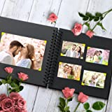 Scrapbook Album, 10 Inches, 80 DIY Black Papes