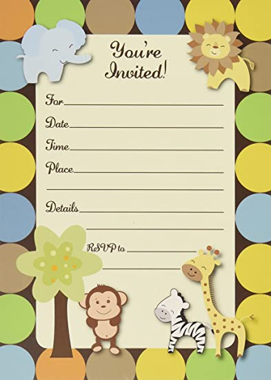Amazon 50 jungle invitations and envelopes large size 5x7 50 jungle invitations and envelopes large size 5x7 baby shower birthday party filmwisefo