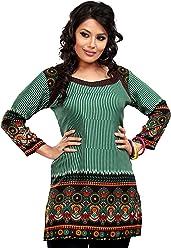 Unifiedclothes Women Fashion Casual Short Indian Kurti Tunic Kurta Top Shirt Dress 55C