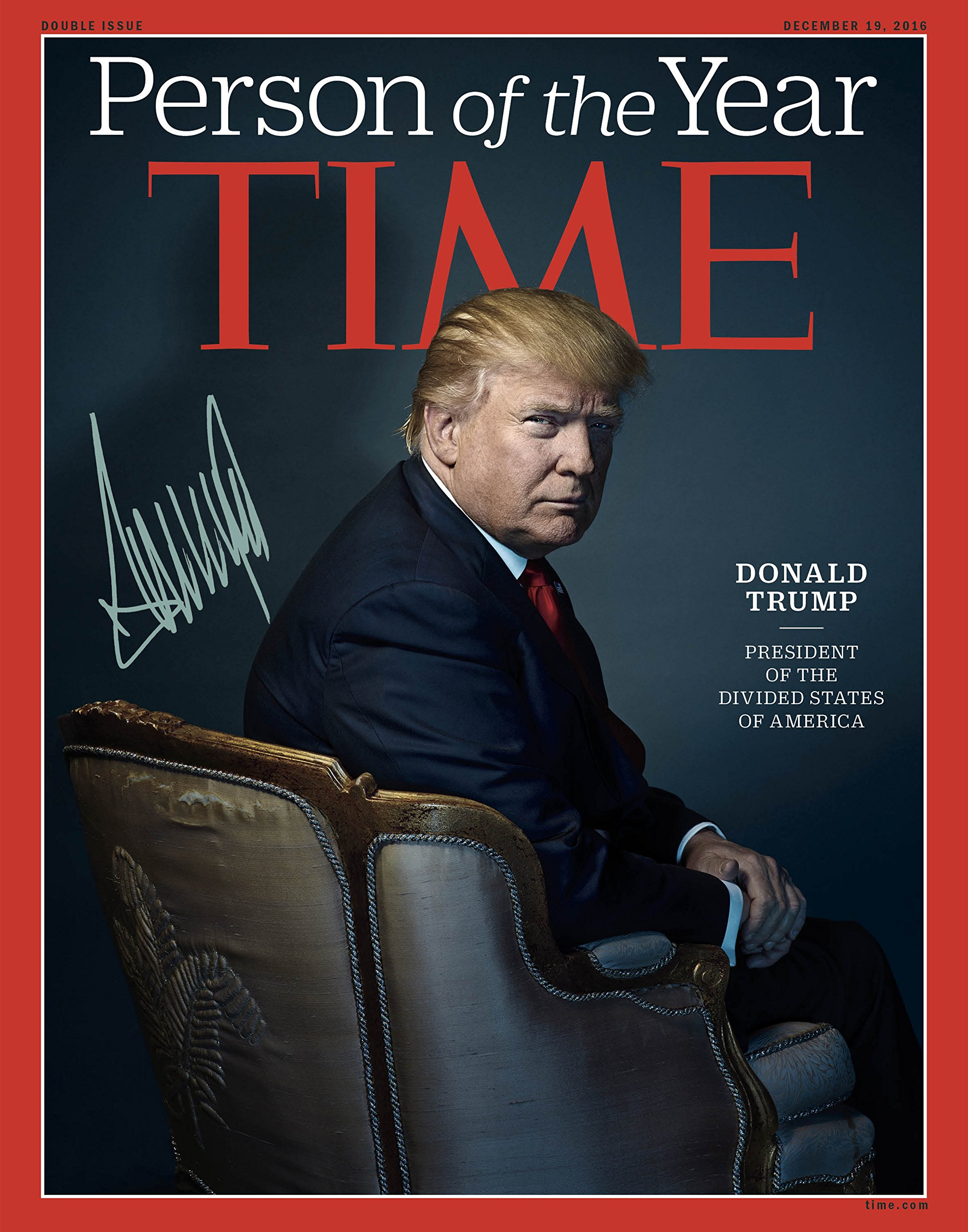 Donald Trump Time Mag Autographed Preprint