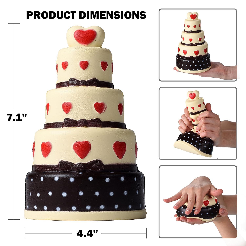 5 Capas Squishies Enorme Pastel de Chocolate con Aroma cremoso Legendary Products Squishies M/ágico