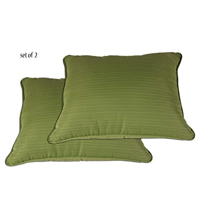 Comfort Classics Inc. Outdoor/Indoor Patio Throw Pillow, in Spun Polyester Olive Green (Set of 2) 27x23x5 : Garden & Outdoor