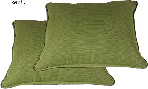 Comfort Classics Inc. Outdoor Indoor Patio Throw Pillow,in Spun Polyester Olive Green Set of 2 27x23x5