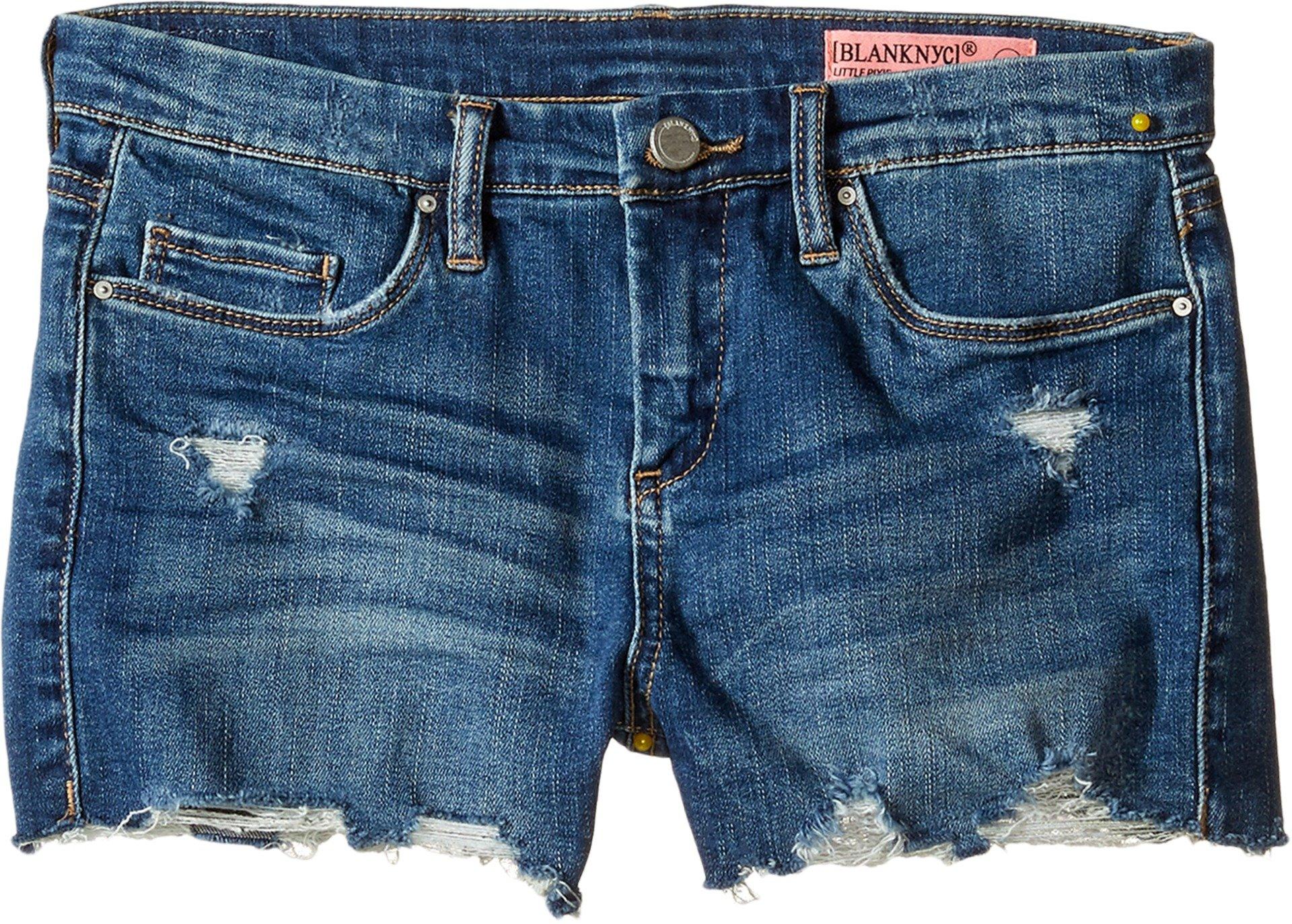 Blank NYC Kids Girl's Denim Distressed Cut Off Shorts (Big Kids) Blue 10 by Blank NYC Kids (Image #1)