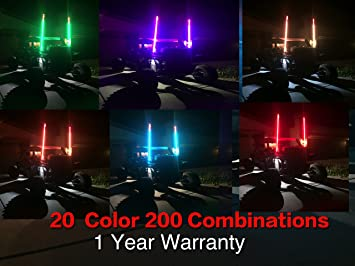 Polaris RZR LED Lighted Whip 6ft 20 Colors 200 Combinations 1 Year Warranty