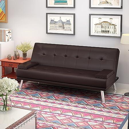 Feifeiyo 1 X 3 Seater Sofa Bed Faux Leather Cheap Sofa Beds 2 3