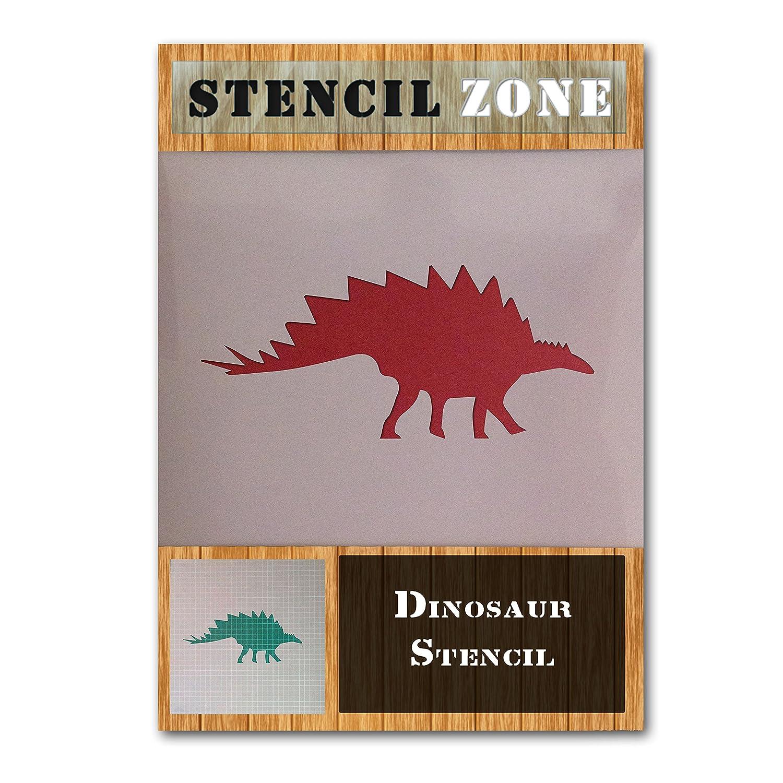 Brontosaurus Dinosaur Shape Mylar Airbrush Painting Wall Art Stencil two