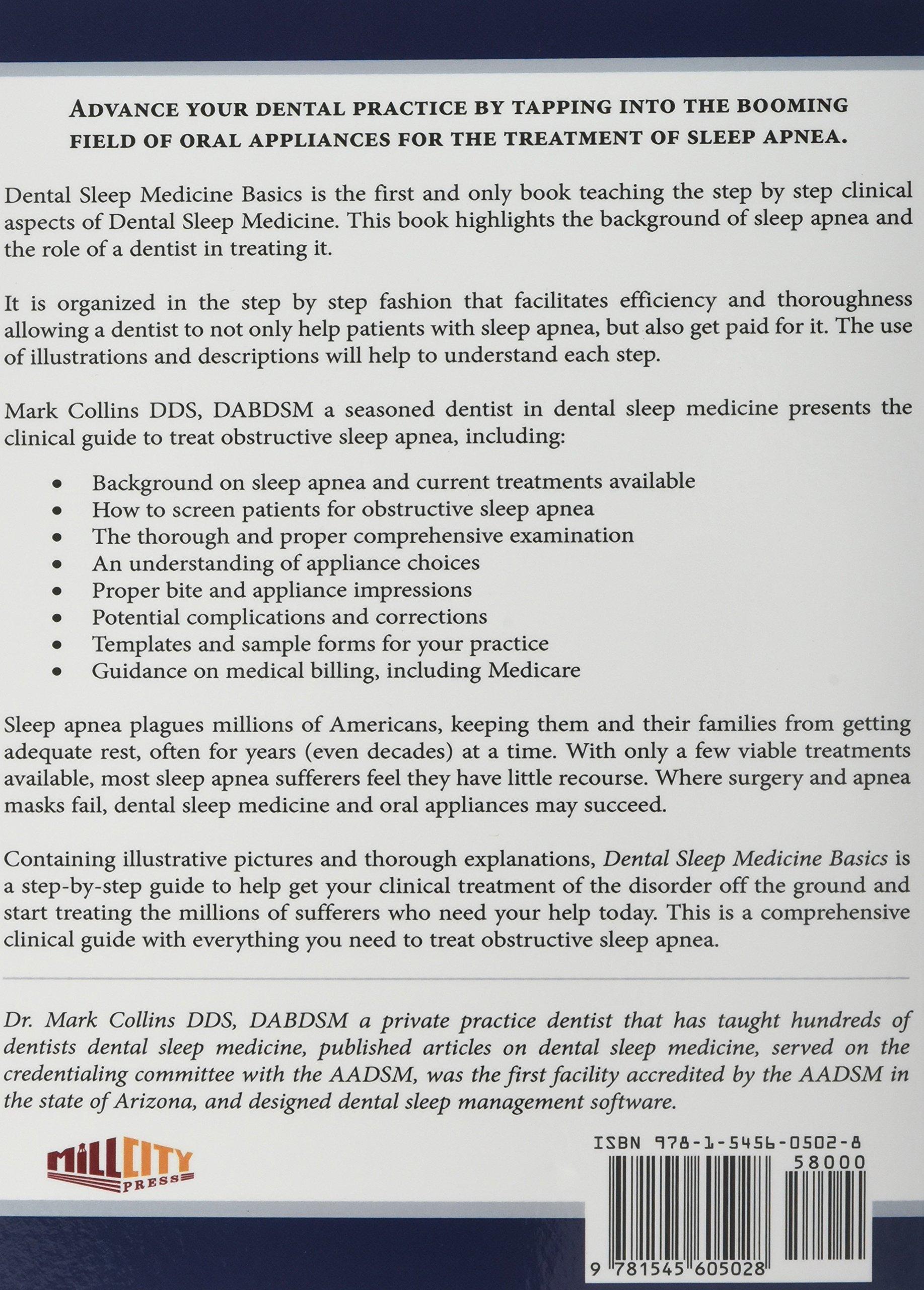 Dental Sleep Medicine Basics: The Clinical Guide to Treating Obstructive  Sleep Apnea: Dds Mark Collins: 9781545605028: Amazon.com: Books